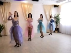 Four gorgeous girls putting their fabulous dancing talents