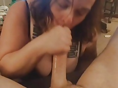 Blowjob with oral cumshot