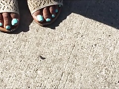Monique Wilson Blue Toes