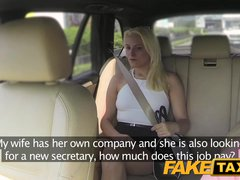 Fake Taxi Secretary fucks for job interview