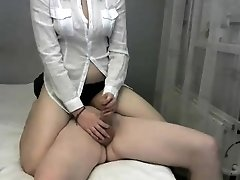 Amateur rimjob and handjob