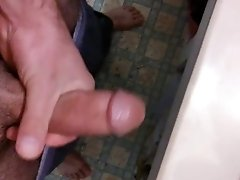 Stroking my big cock