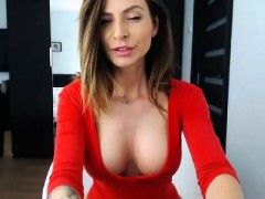 Brunette with Fake Boobs Cam