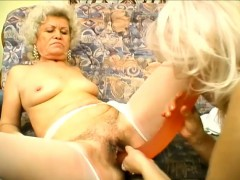 Naughty blonde grandma can't wait to have her cooch penetrated