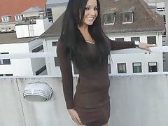 Quicky with hot babe on the balcony