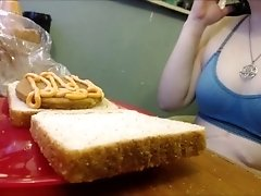 GTS Eats Sandwich with Tiny Inside