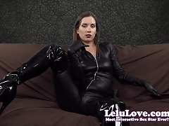 Lelu Love-Catsuit Boots Leather Gloves Jerkoff Encouragement
