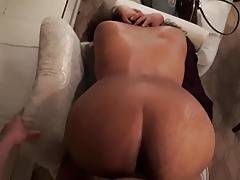 Indian wife enjoying a big white cock part 2