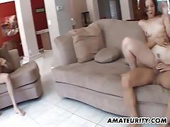 Amateur foursome with anal and facials
