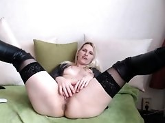 Blonde With Tits Jacks Off