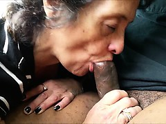 Amateur Grandma Sucks Off a Black Stranger