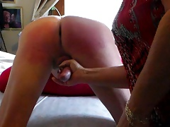 Mistress Beats Her Sissy Husband & makes Him to Cum
