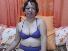 Oriental granny with Eyeglasses Cam