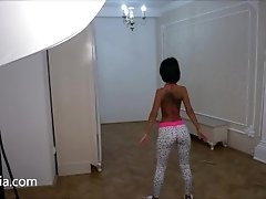 Anisyia Livejasmin Yoga pants workout butt exercises