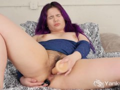Purple Haired Hermine Toys Her Snatch And Ass