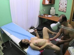 Fingered euro patient cocksucking the doctor
