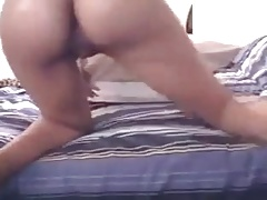 Webcam stripping and dildo
