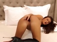 Stunning Bulgarian Babe Fucks Pussy And Ass
