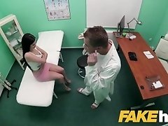 Fake Hospital Shaven Russian pussy fucked hard by doctors big dick