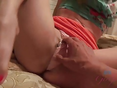 Norah Nova Oils Her Feet and Gives a Footjob