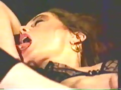 Retro Classic - Girl Masturbating in Crotchless Panties