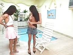 Ladyboy does doggy-style on her sweetheart with BIG TITS
