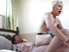 Sexy GILF seduce young lucky mother fucker
