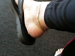Sexy feet shoeplay